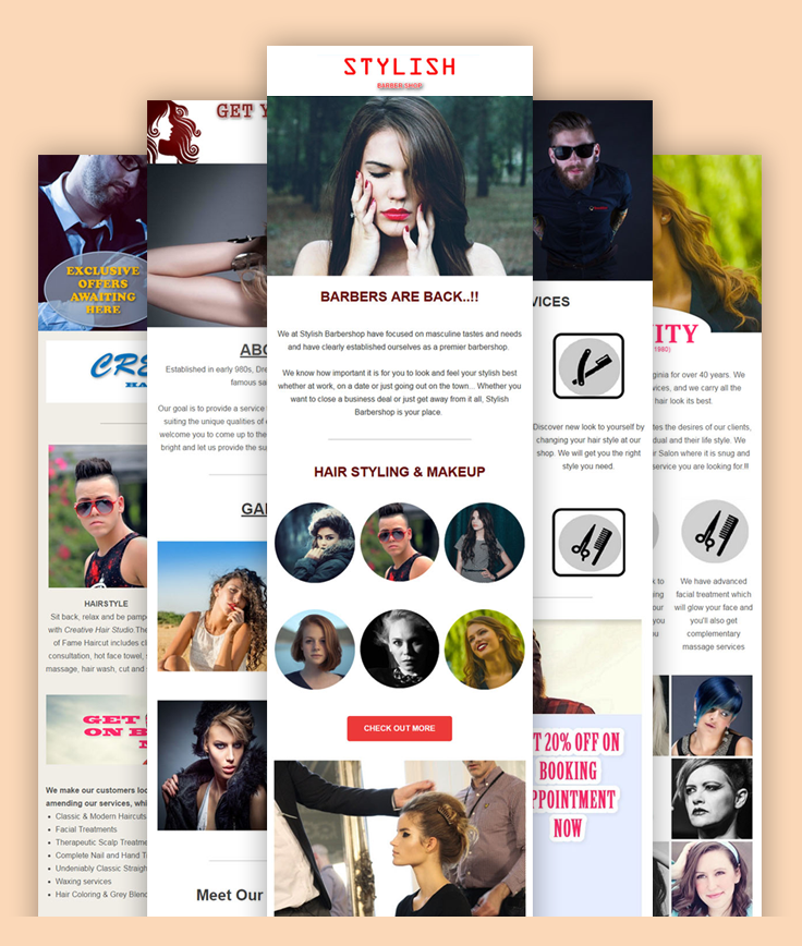 Email Marketing Templates For Hair Salons MailGet