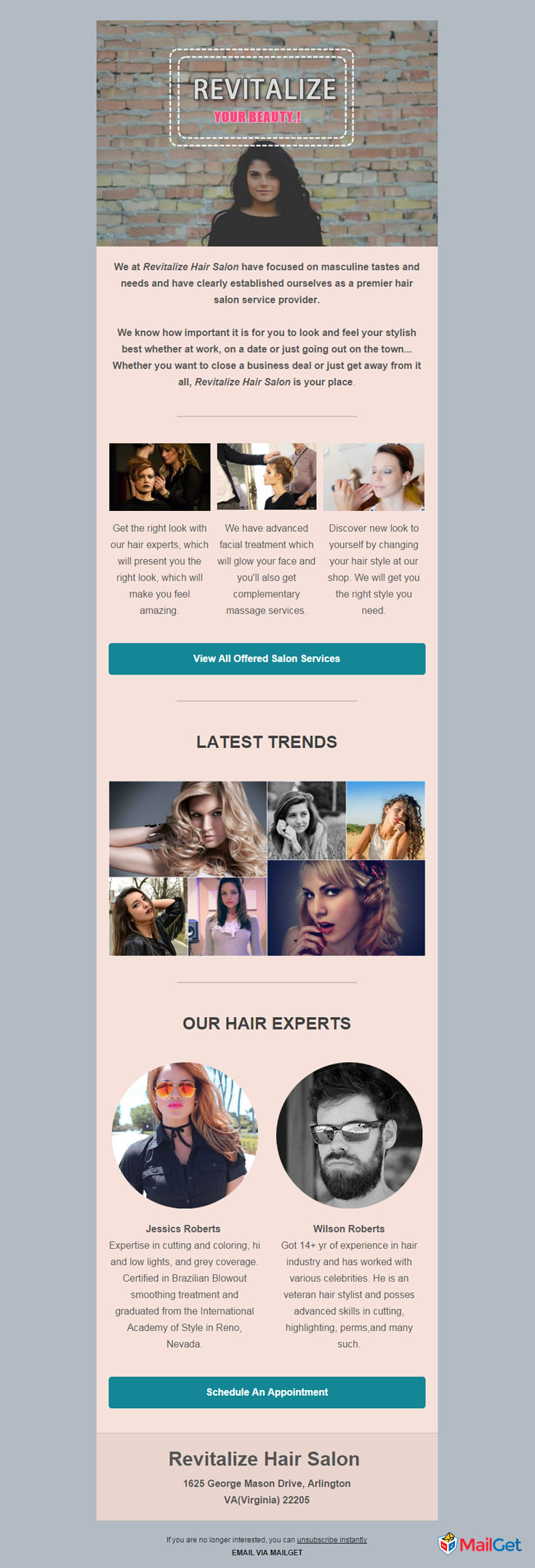 Free Hair Salon Email Templates