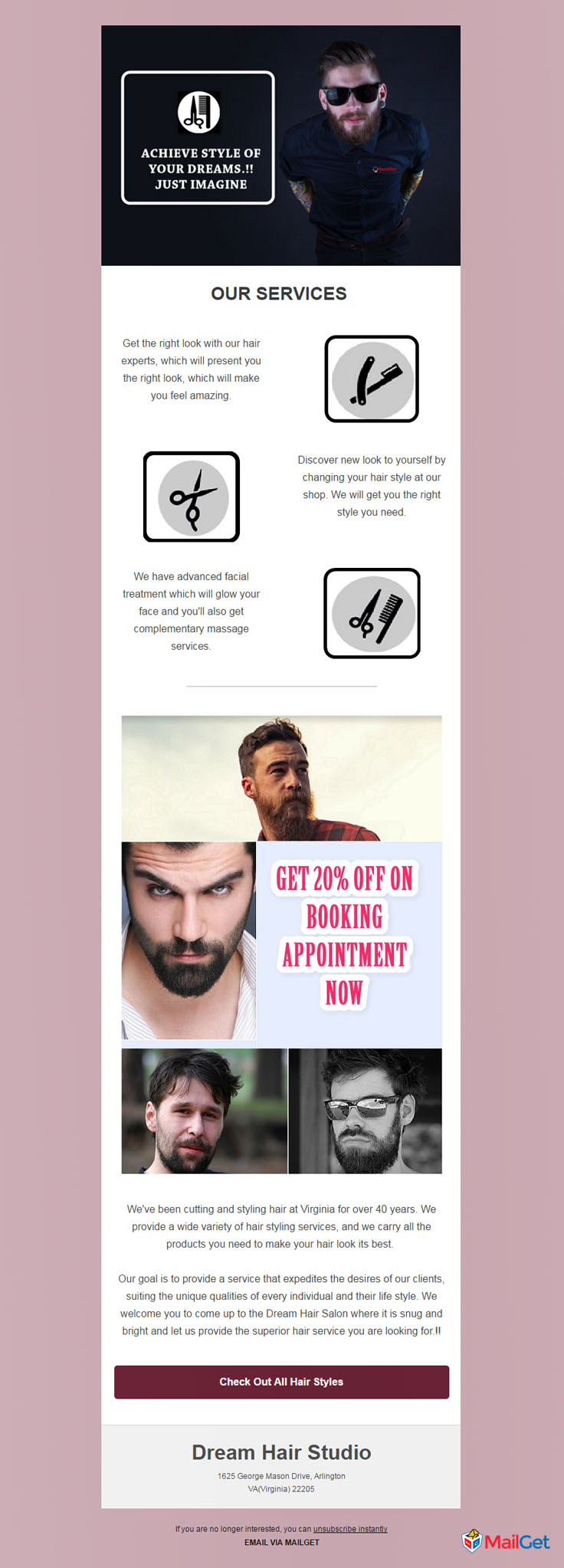 10 best free hair salon email newsletters templates mailget