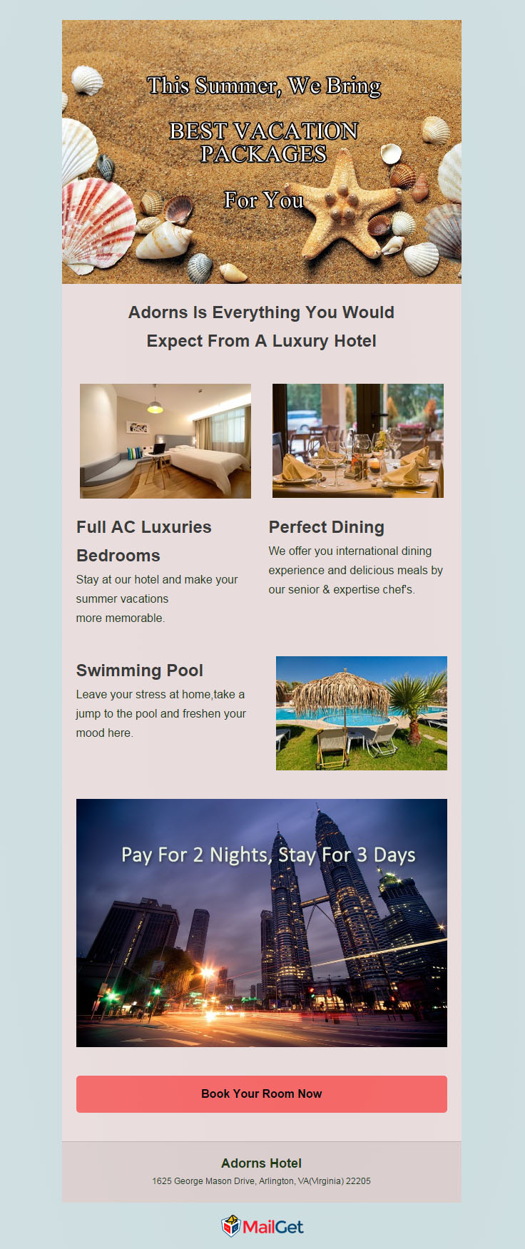 Free Hotel Email Marketing Templates 1