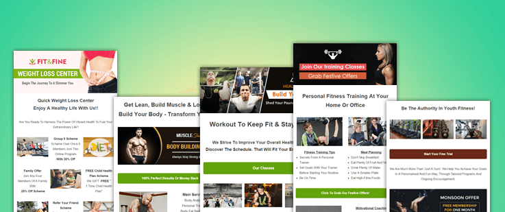 Fitness Email Template Feature