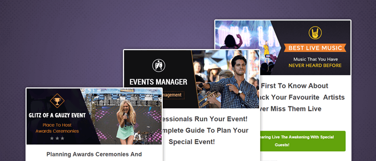 Event Email Template Feature