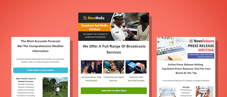 News Agencies Email Templates