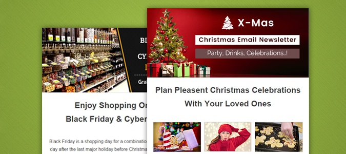 Holiday Email Feature