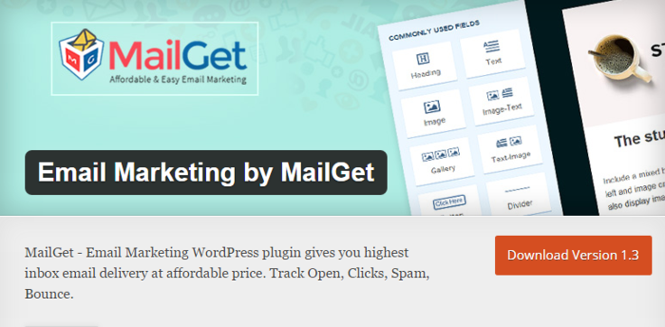 MailGet Best Free WordPress Newsletter Plugin Email Marketing