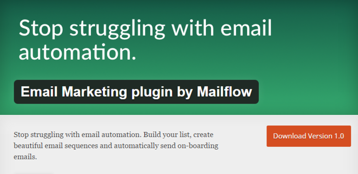 MailFlow Best Free WordPress Newsletter Plugin Email Marketing