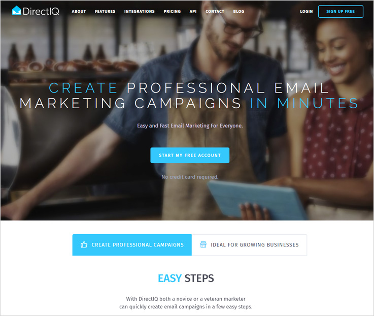 DirectIQ Best Email Marketing Tools For Small Business