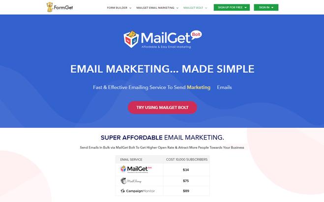 MailGet Bolt-SendInBlue Alternatives