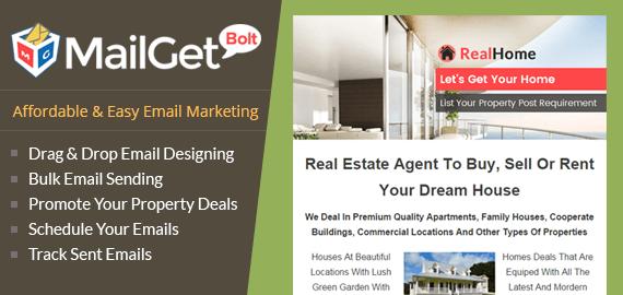 MailGet Bolt - Email Marketing For Real Estate Agent
