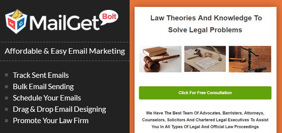 MailGet Bolt - Email Marketing For Lawyers
