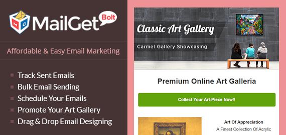 Email Marketing For Art Galleries Slider