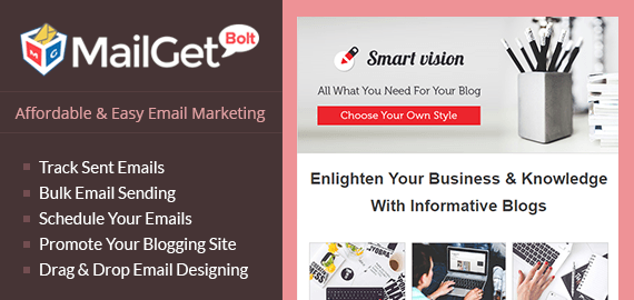 Email Marketing For Bloggers Slider