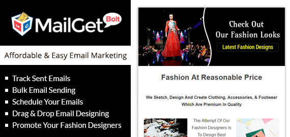 MailGet Bolt - Email Marketing For Fashion Designers