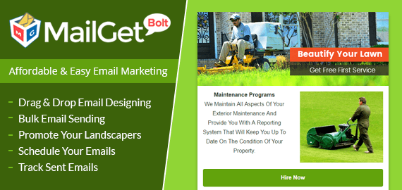 Email Marketing For Landscapers & Landscaping Gardening Slider