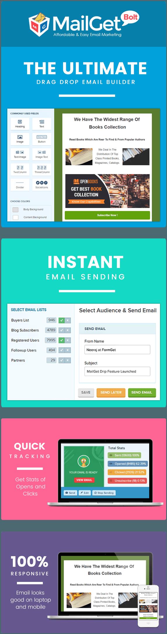 MailGet Bolt - Email Marketing For Book Distributors