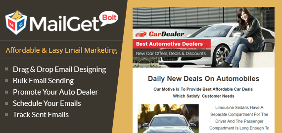 MailGet Bolt - Email Marketing For Car Dealerships & Automotives