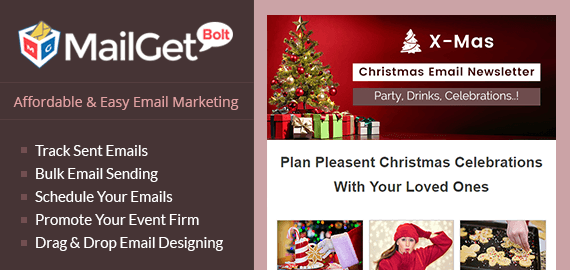 MailGet Bolt - Email Marketing For Christmas