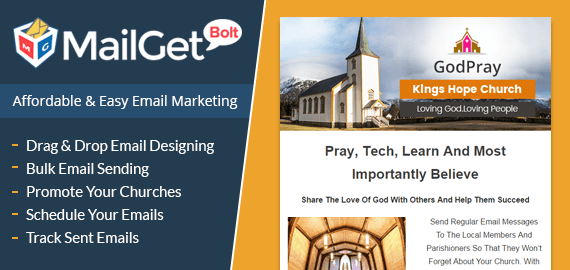 MailGet Bolt - Email Marketing For Churches