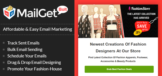 MailGet Bolt - Email Marketing For Fashion & eCommerce