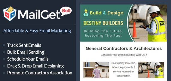 EMAIL MARKETING FOR GENERAL CONTRACTORS Slider