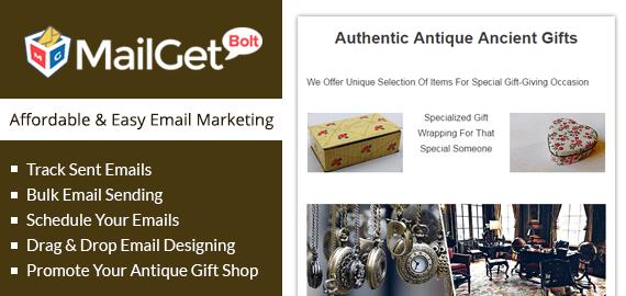 Email Marketing For Antique Gift Shop Slider
