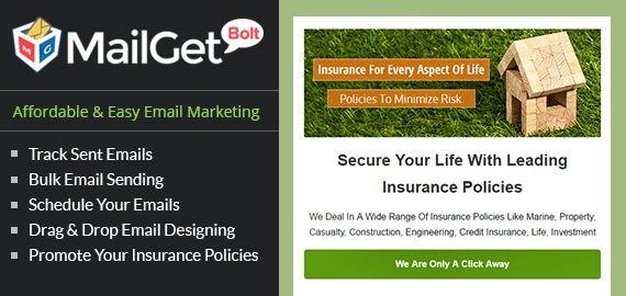 MailGet Bolt - Email Marketing For Insurance