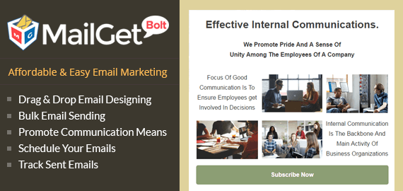 MailGet Bolt - Email Marketing For Internal Communications