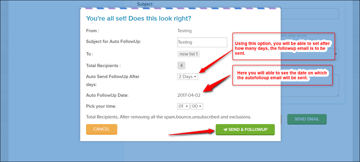 Email Marketing Auto Followup