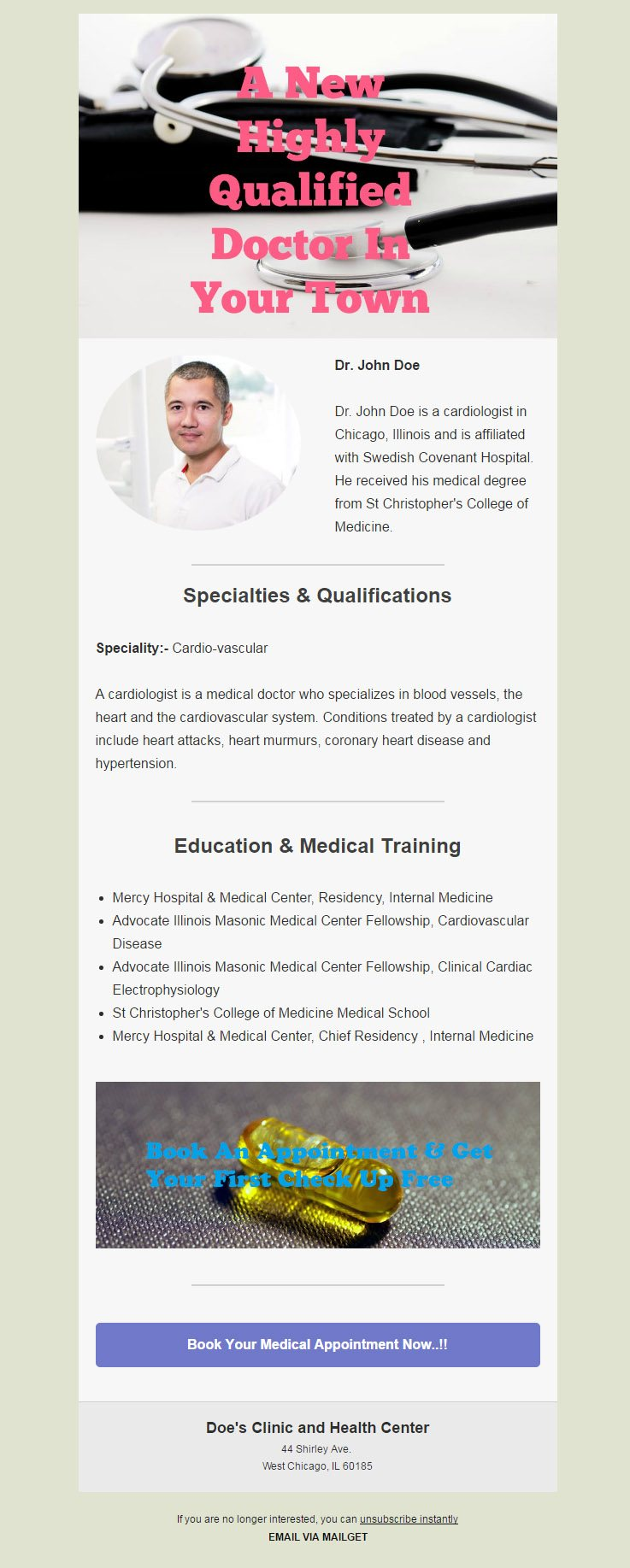 5+ Best Doctor Email Templates For Health & Medical Centres | MailGet