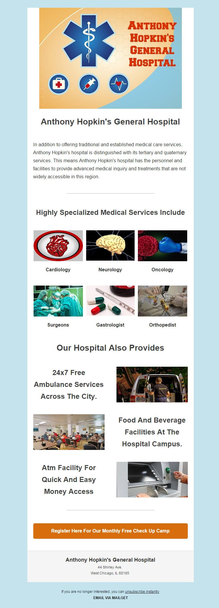 Email Marketing Service For Hospitals, Health Centers & Nursing Homes