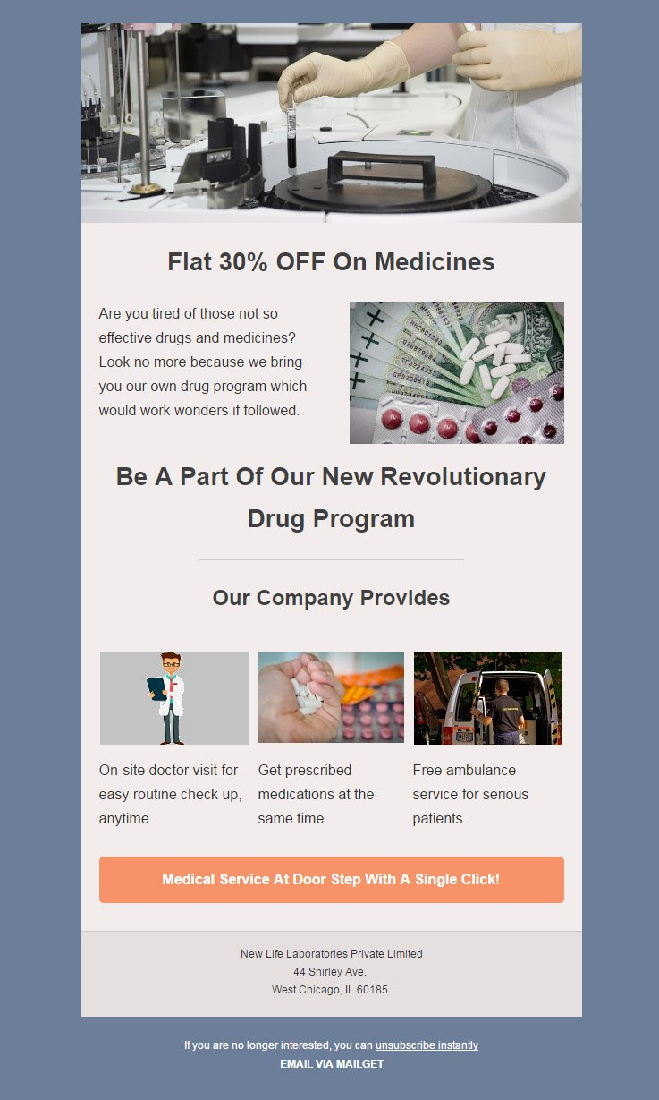 Email Marketing Service For Pharmaceuticals & Drug Industries