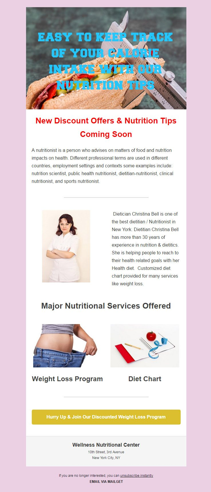Email Marketing Service For Physicians & Nutritionist
