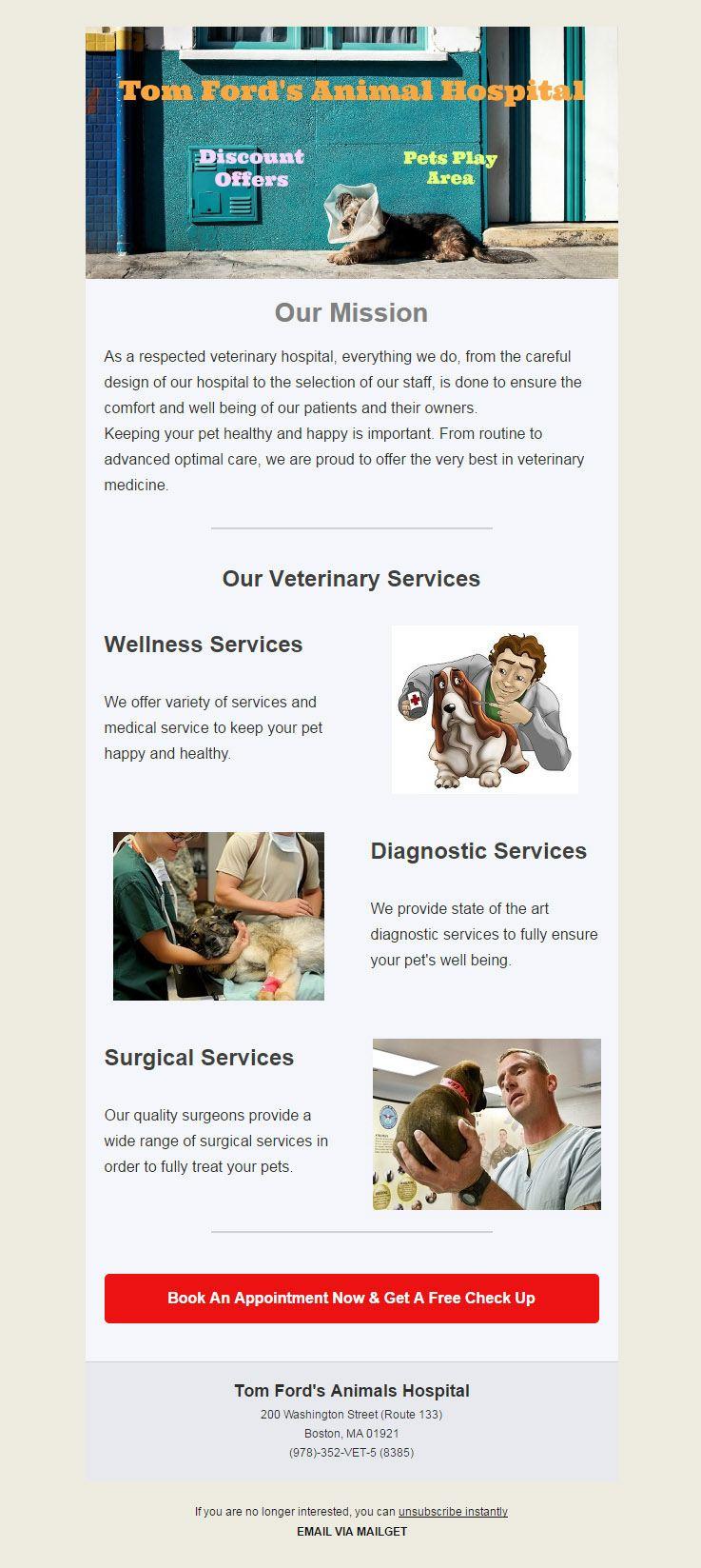 Email Marketing Service For Veterinarians, Veterinary Hospital & Veterinary Medicine
