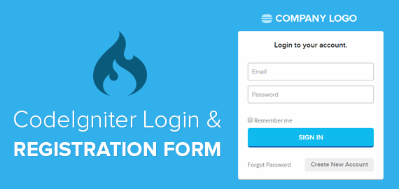 CodeIgniter - Login Registration Form Code