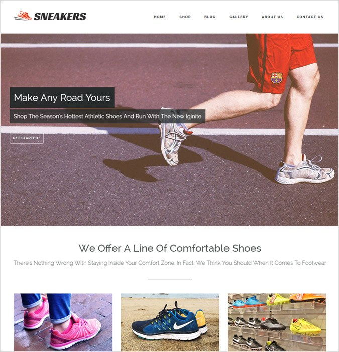 Sneakers WP Theme