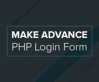 Advance PHP User Login Registration Script
