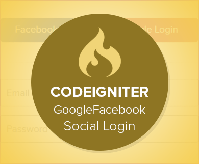 Codeigniter – Google Facebook Social Login