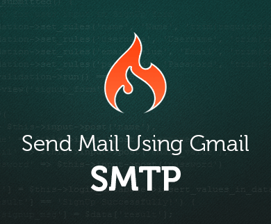 Send Email Newsletter Using Gmail SMTP Server : CodeIgniter