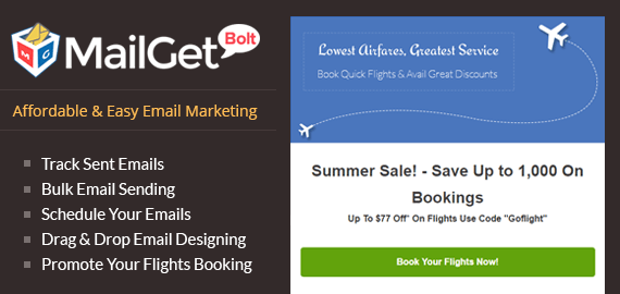 Email Marketing For Air Tickets Travel Agents Slider
