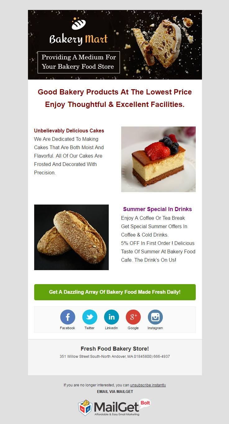 Email Marketing For Bakery Shops
