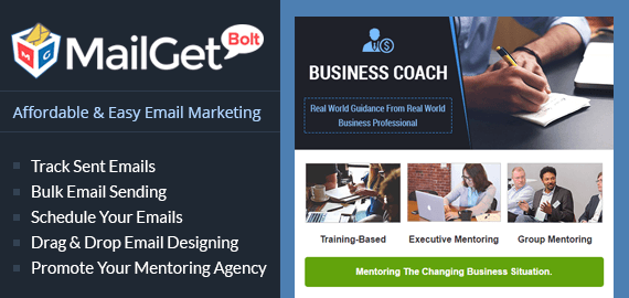 Email Marketing For Business Mentoring Agency Slider