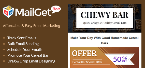 Email Marketing For Cereal Bar Slider