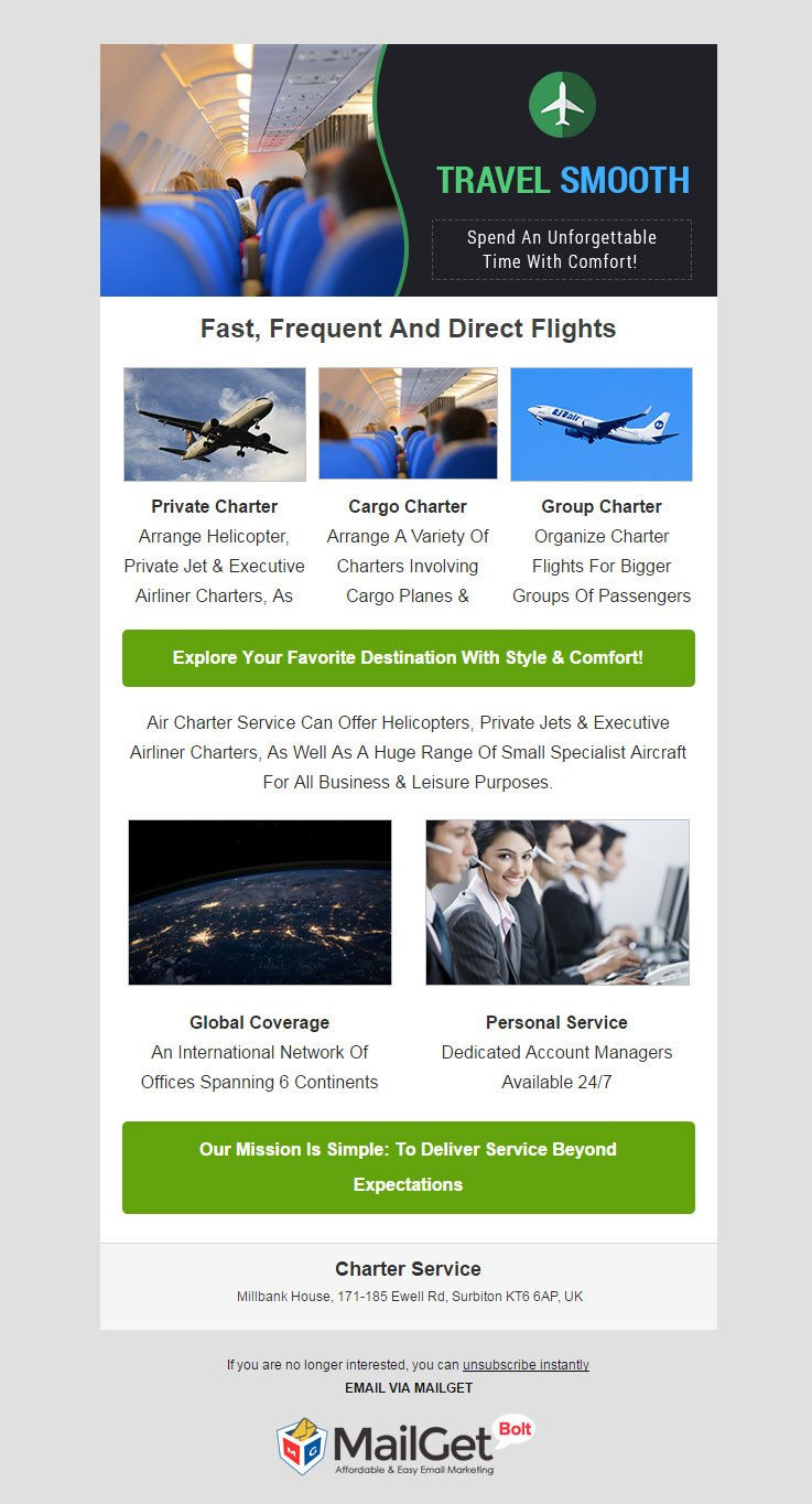 Email Marketing For Charter Transportation Services