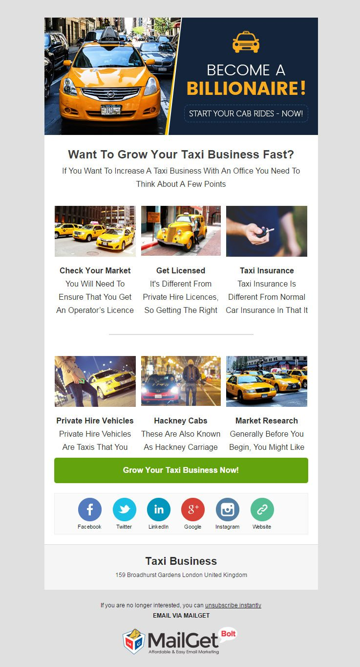 Email Marketing For Chauffeur Services