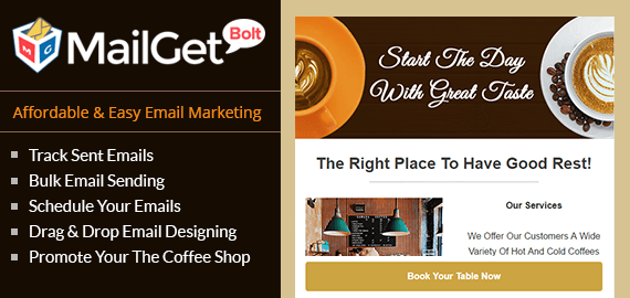 Email Marketing For Coffee Shop Slider