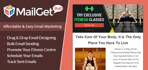 Email Marketing For Fitness Centres Slider