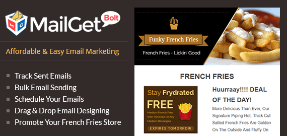 Email Marketing For French Fries Shop Slider