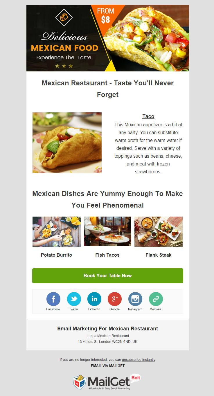 Email Marketing For Mexican Restaurants