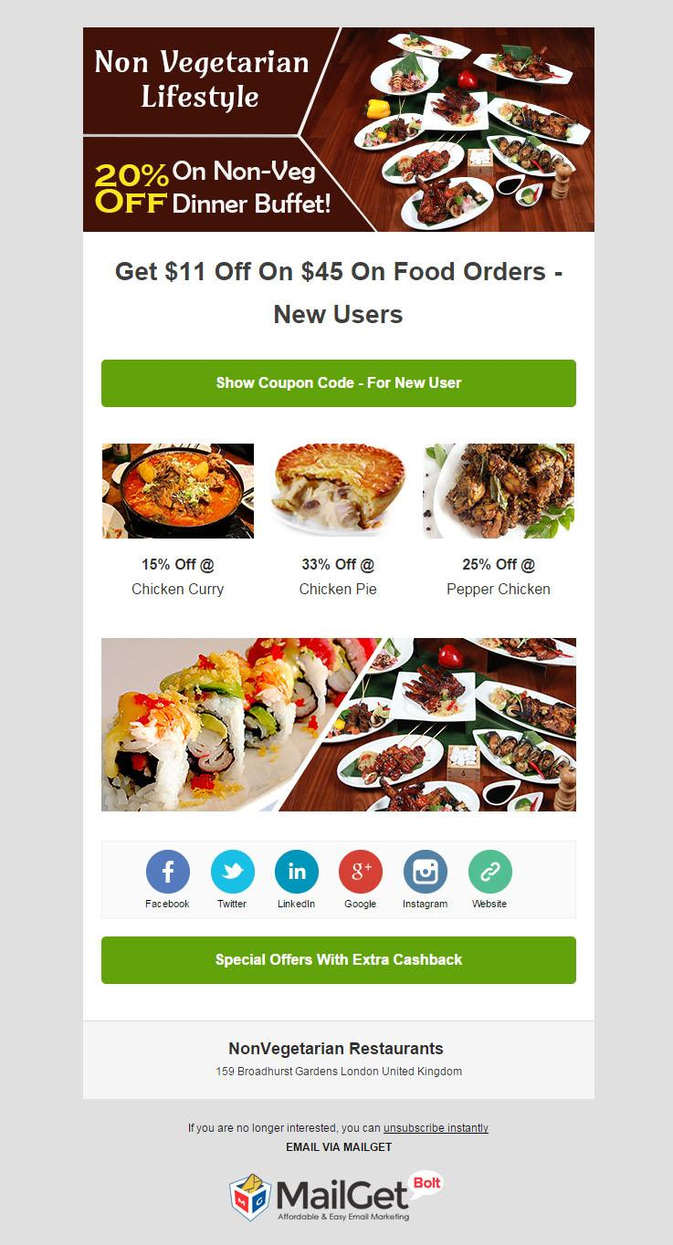 Email Marketing For Non-Vegetarian Restaurants