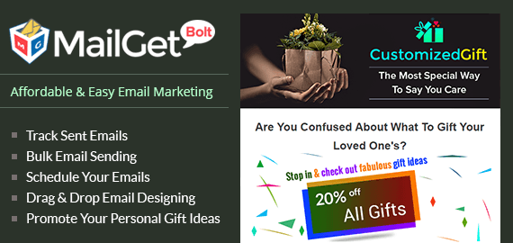 MailGet Blot - Email Marketing For Personalized Gift Ideas